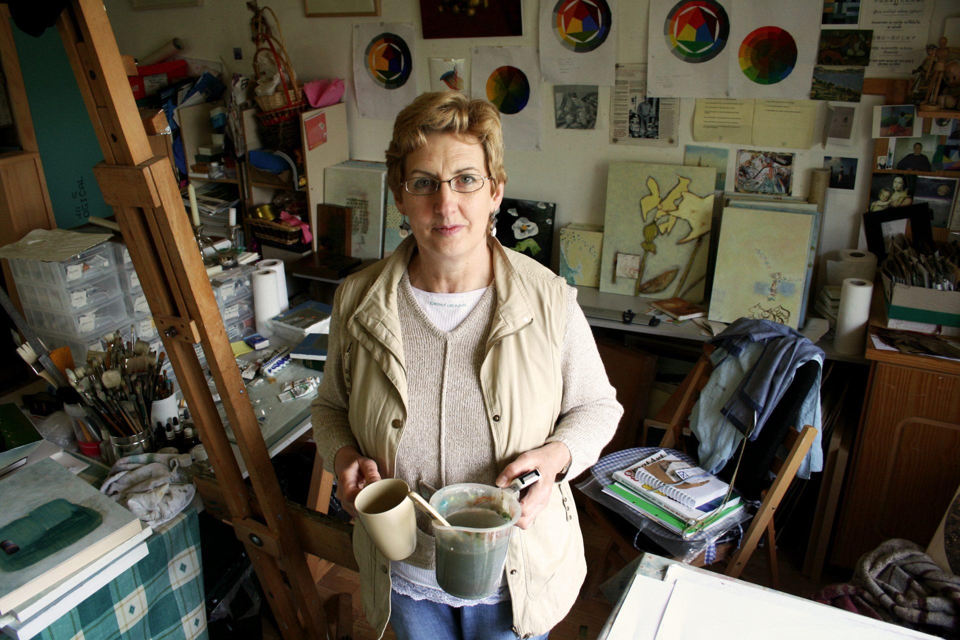 Mary Foudy O'Halloran in studio