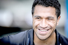 All Blacks legend Mils Muliaina smiles d