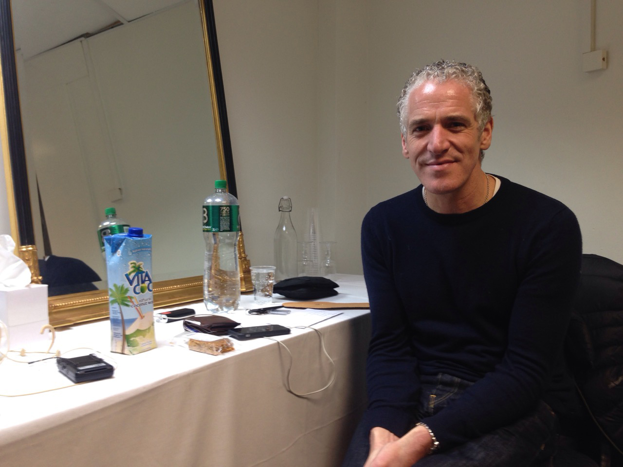 Gordon Buchanan relaxes backstage at the TF in Castlebar.