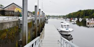 Image of the Quay in Ballina, located on the Moy Estuary
