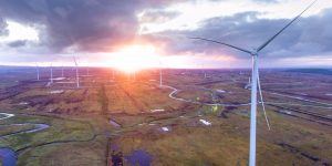 Aerial shot of the Oweninny wind farm site taken at dawn on June 28 last.