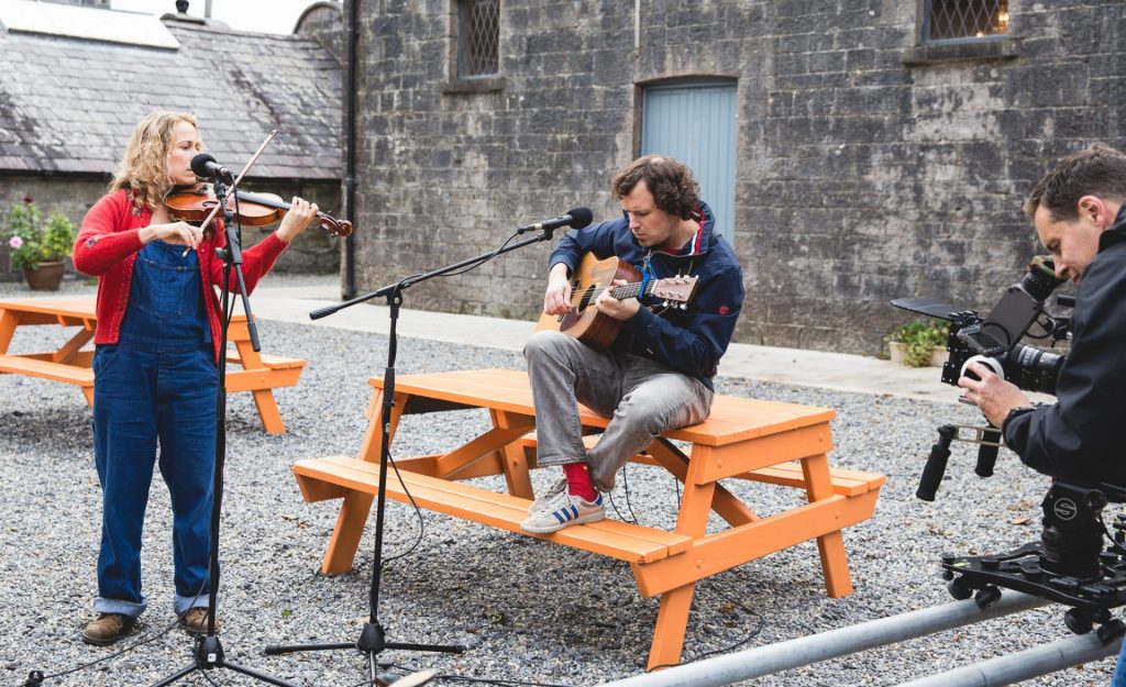 Musicians performing at Belleek Castle during Other Voices Ballina 2019.