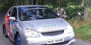 Keith and Sara McFadden from Mayo in action during the Galway Summer Stages Rally.
