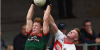 A Stephenites and Aghamore player fight for the ball