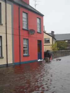 Crossmolina during a previous flood