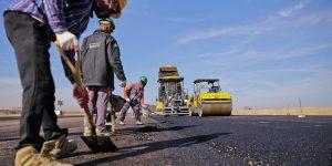 Road construction scene