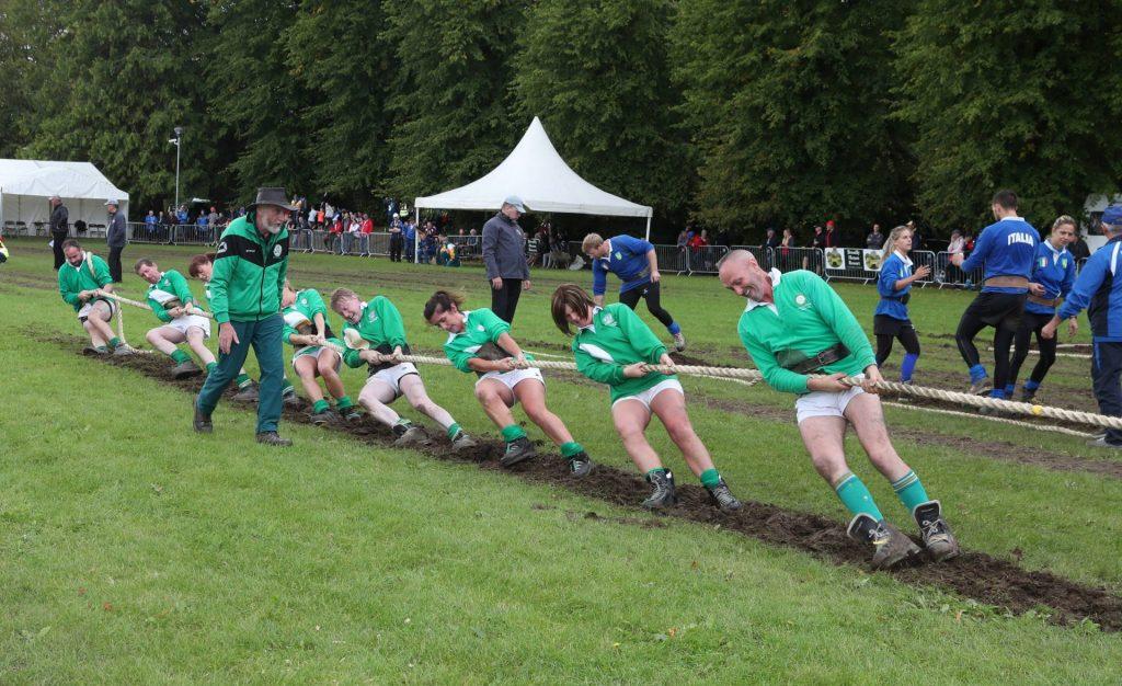 Irish team in action at European Tug of War Championships