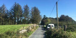 Police van at scene of Aghamore shooting