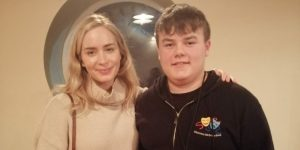 Emily Blunt with Jack Cronin
