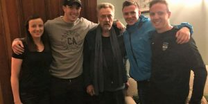 Duffy family with Christopher Walken