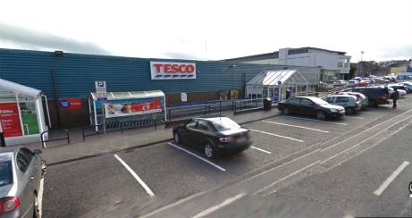 The current Tesco store at Market Road in Ballina.