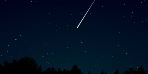 Stock image of a meteor