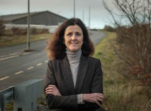 Michelle Mulherin at Mayo Renewable Power site