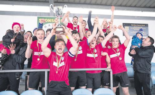 Ballina Town FC celebrates Super Cup success