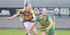 McHale Rovers' corner forward, Sinead Walsh in action.