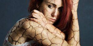 Sad, broken woman