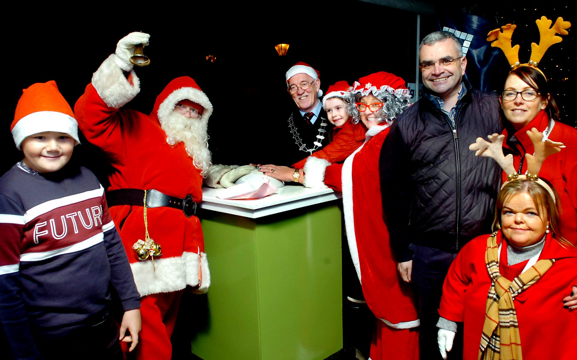 Santa and Mrs Claus switch on the Christmas lights in Ballina.