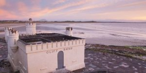 Enniscrone bathhouse and beach