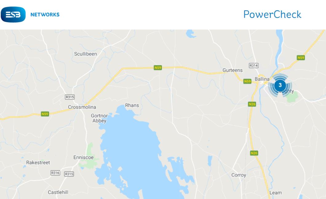 Ballina power cut map