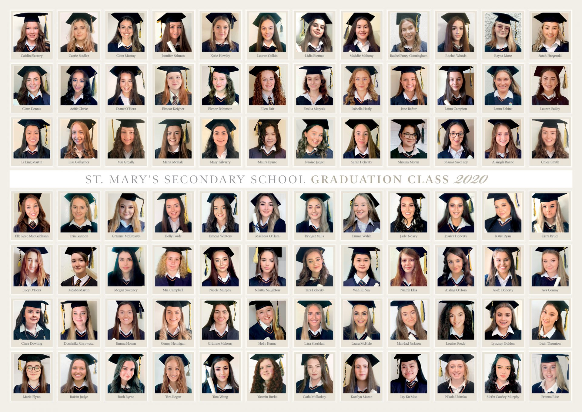 2020 grad pic by St Mary's SS in Ballina
