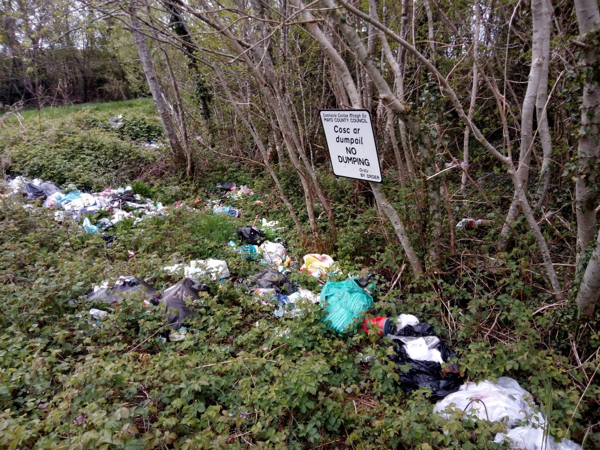 Illegal dumping at Tullysleva Ballina